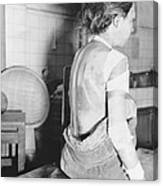 Japanese Female Victim Of Atom Bomb Canvas Print