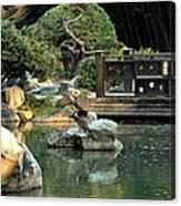 Japanese Garden At Sundown Canvas Print