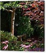 Japanese Garden Bench Canvas Print