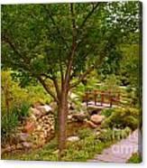 Japanese Garden Bridge Canvas Print