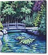 Japanese Garden Bridge San Francisco California Canvas Print