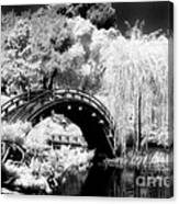 Japanese Gardens And Bridge Canvas Print