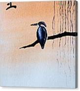 Japanese Kawasemi Kingfisher Feng Shui Earth Canvas Print
