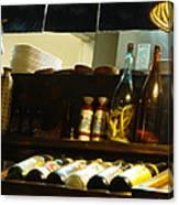 Japanese Kitchen And Sake Selection Canvas Print