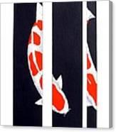 Japanese Koi Kohaku Division Painting Canvas Print