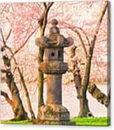 Japanese Stone Lantern Canvas Print