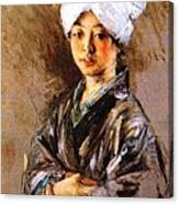 Japanese Woman Canvas Print