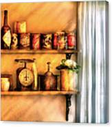 Jars - Kitchen Shelves Canvas Print