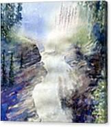 Jasper Athabasca Falls Canvas Print