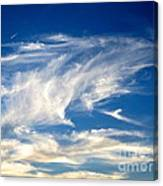 Jaws And Jet Nevada Sky Canvas Print