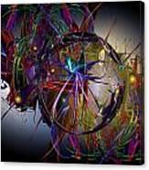 Jazz Age Spiral Canvas Print