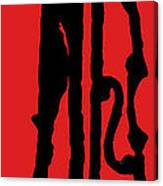 Jazz Bass In Red Canvas Print