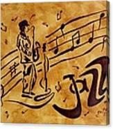 Jazz Coffee Painting Canvas Print