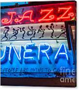 Jazz Funeral And Lamp Nola Canvas Print