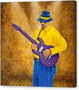 Jazz Guitar Man Canvas Print