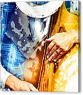 Jazzman At His Craft Canvas Print