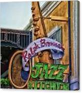 Jazz Kitchen Signage Downtown Disneyland Canvas Print
