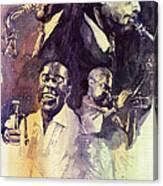 Jazz Legends Parker Gillespie Armstrong  Canvas Print