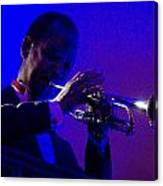 Jazz Man David Hardiman On The Trumpet Canvas Print