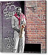 Jazz Man - Street Performer Canvas Print
