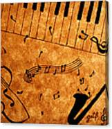 Jazz Music Coffee Painting Canvas Print