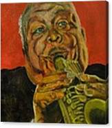 Jazz Player Canvas Print