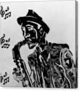 Jazz Saxophone Man Canvas Print