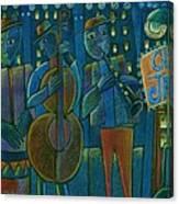 Jazz Time At Club Jazz Canvas Print