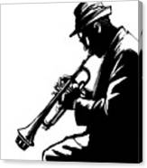 Jazz Trumpet Player-vector Illustration Canvas Print