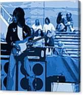 Jb #33 Enhanced In Blue Canvas Print