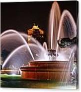 J.c. Nichols Memorial Fountain - Night Canvas Print