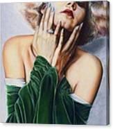 Jean Harlow  @ Ariesartist.com Canvas Print