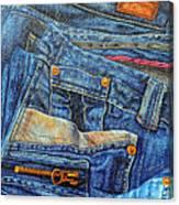 Jean Junkie Canvas Print
