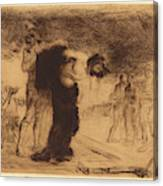 Jean-louis Forain, Christ Stripped Of His Clothes Canvas Print