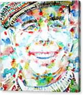 Jean Renoir Watercolor Portrait Canvas Print