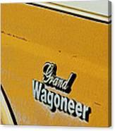 Jeep Grand Wagoneer Side Emblem Canvas Print