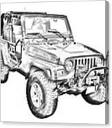 Jeep Wrangler Rubicon Illustration Canvas Print