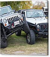 Jeeps In Juxtaposition Canvas Print