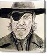 Jeff Bridges As U.s. Marshal Rooster Cogburn Canvas Print