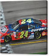 Jeff Gordon Dupont Chevrolet Canvas Print