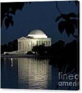Jefferson At Night Canvas Print