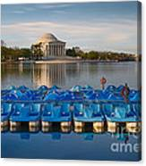 Jefferson Memorial And Paddle Boats Canvas Print
