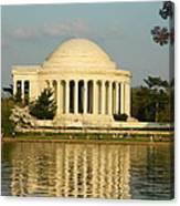 Jefferson Memorial At Sunset Canvas Print