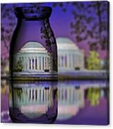 Jefferson Memorial In A Bottle Canvas Print