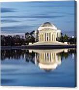 Washington Dc Jefferson Memorial In Blue Hour Canvas Print