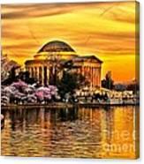 Jefferson Memorial Sunset Canvas Print