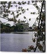 Jefferson Through The Trees Canvas Print