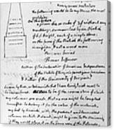 Jefferson: Tombstone Canvas Print