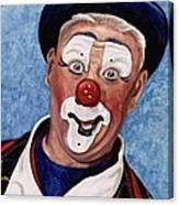 Watercolor Clown #11 Jeffrey Potts  Canvas Print
