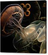 Jellyfish Digital Art Canvas Print